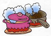 調理時に発生する大量の煙